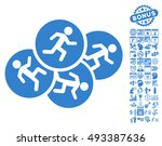running men pictograph with... | Shutterstock .eps vector #493387636
