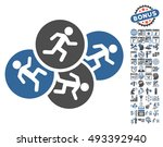 running men icon with bonus... | Shutterstock .eps vector #493392940