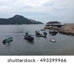 fishing boats | Shutterstock . vector #493399966