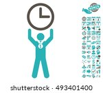 time champion icon with bonus... | Shutterstock .eps vector #493401400