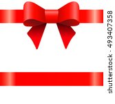red bow  ribbon  white... | Shutterstock . vector #493407358