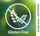 free gluten vector icon | Shutterstock .eps vector #493409044