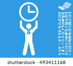time champion icon with bonus... | Shutterstock .eps vector #493411168