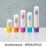 infographic design vector and... | Shutterstock .eps vector #493419310
