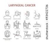 laryngeal cancer. symptoms ... | Shutterstock .eps vector #493422736