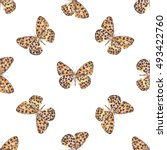 seamless pattern with spotted... | Shutterstock . vector #493422760