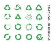 recycle  raw materials vector... | Shutterstock .eps vector #493423483