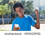young african american man... | Shutterstock . vector #493423930