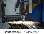 laser cutting machine | Shutterstock . vector #493424914