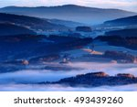 cold morning in sumava national ... | Shutterstock . vector #493439260