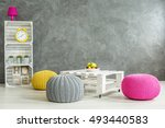 new style grey living room with ... | Shutterstock . vector #493440583