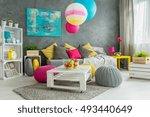 new design grey living room... | Shutterstock . vector #493440649