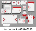 corporate identity red and... | Shutterstock .eps vector #493445230