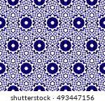 seamless vector illustration in ... | Shutterstock .eps vector #493447156