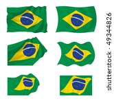 collection of brazilian flags ... | Shutterstock . vector #49344826