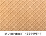 brown wafer textured surface... | Shutterstock . vector #493449544