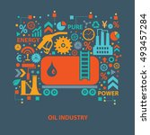oil industry concept design on ... | Shutterstock .eps vector #493457284