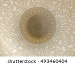inside sheikh zayed mosque in... | Shutterstock . vector #493460404