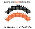 printable cupcake wrappers for... | Shutterstock .eps vector #493461364