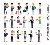 set of business people... | Shutterstock . vector #493463080