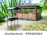 Gazebo With Barbecue By The...