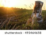 girl clothes amazon nature... | Shutterstock . vector #493464658