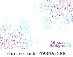 structure molecule atom dna and ... | Shutterstock .eps vector #493465588