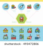 icon set travel vector | Shutterstock .eps vector #493472806