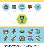 icon set music vector | Shutterstock .eps vector #493472914