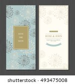 wedding invitation card suite... | Shutterstock .eps vector #493475008