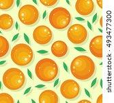 orange fruit seamless pattern.... | Shutterstock .eps vector #493477300