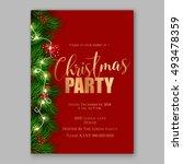 christmas party invitation... | Shutterstock .eps vector #493478359