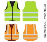 road vest for safe work. safety ... | Shutterstock .eps vector #493478863