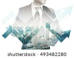 businessman in suit and... | Shutterstock . vector #493482280