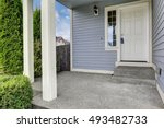 entrance porch with concrete... | Shutterstock . vector #493482733