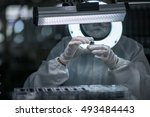 the quality inspector is... | Shutterstock . vector #493484443