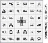 transportation icons universal... | Shutterstock . vector #493484824