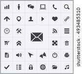 web ui icons universal set for... | Shutterstock . vector #493485310
