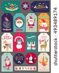 collection of christmas... | Shutterstock .eps vector #493489174
