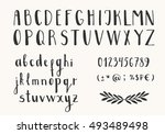 hand drawn ink letters. vector... | Shutterstock .eps vector #493489498