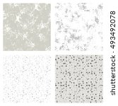 set of seamless vector textures.... | Shutterstock .eps vector #493492078