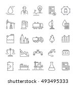 set vector line icons with open ... | Shutterstock .eps vector #493495333