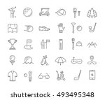set vector line icons with open ... | Shutterstock .eps vector #493495348