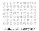 set vector line icons drinks ... | Shutterstock .eps vector #493495396