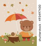 Cute Bear And Snail...