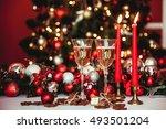 christmas still life   two... | Shutterstock . vector #493501204