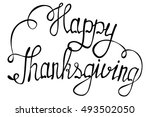 vector isolated lettering happy ... | Shutterstock .eps vector #493502050