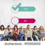 yes no answer questionnaire... | Shutterstock . vector #493502833
