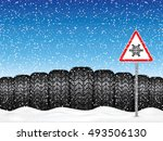 vector illustration winter car... | Shutterstock .eps vector #493506130