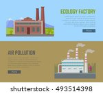 ecology factory and air... | Shutterstock .eps vector #493514398